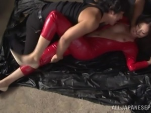 japanese girl in latex costume fucked by the yakuza