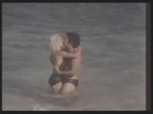 Two porn legends meet in Hawaii as Ginger Lynn gets fucked in the sand by Ron...