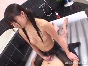 cute & soapy japanese girl gets fucked