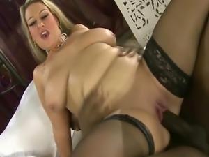 Dirty British Big Tit MILF Sucks Big Black Cock