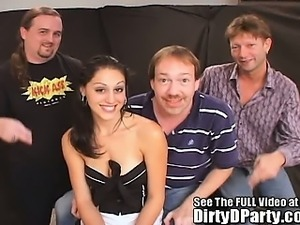Thin Party Girl Slut Fucked Sperm Shot!