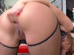 Attractive lusty nympho brunettes Andy Brown and Colette B with natural tits...