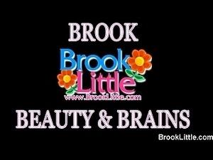 Cute blonde girl Brook Little has a little bit of fun in