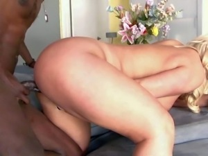 Blonde Julie Cash is a BBW with nice thick ass. She shows off her nice body...