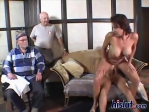 Vanessa is a cute MILF and loves old dicks