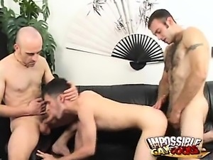 Passionate gay Jean-phillipe getting screwed by an enormous schlong in a...