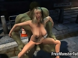 Hot 3D blonde gets fucked by the Incredible Hulk