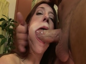 Riley shy is not shy to get her face fucked hard.