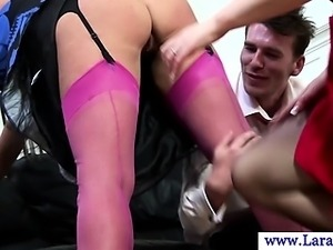 Classy milf matures threesome pleasing