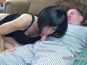 Brunette MILF Melissa Swallows is getting fucked hard