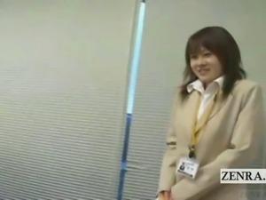 Subtitled crazy Japanese naked office scavenger hunt