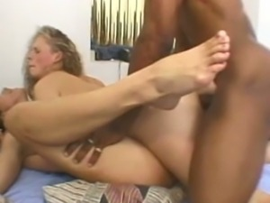 Ffm anal interracial threesome
