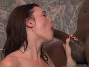slim & white brunette discovers the black dong @ i like black boys #11