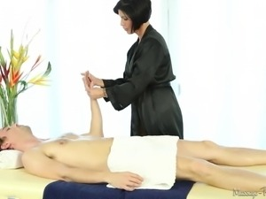 professional massage performed by a beauty