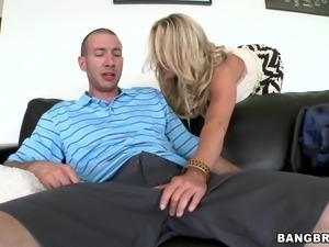 caught with the blonde milf