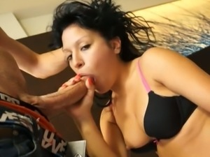 Brunette rachel love gets blasted sky high