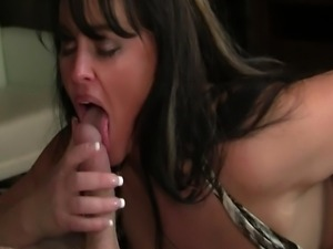 Big boob MILF Indianna Jaymes gets fucked hard and squirts all over a cock