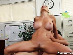 Johnny Castle loves alluring Puma SwedeS wet cunt and bangs her as hard as...