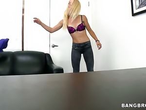 Cameron Canada with tiny tits and bald cunt enjoying great masturbation session