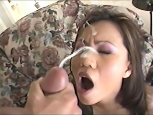 Asian faces covered in cumpilation