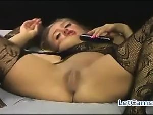 Hottest blonde camgirl mastubation show on webcam