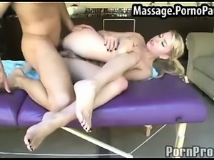 Teen gets facial at massage