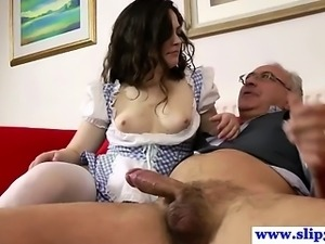 British amateur fucking old man pole