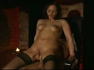 Brunette MILF riding a hard cock and enjoying every second of it.