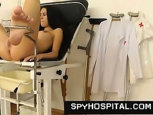 Cunt check-up on hidden cam