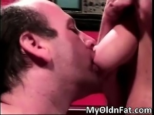 Dirty horny blonde MILF getting screwed part1