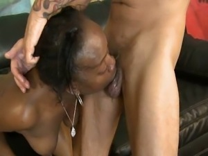 White cocks gagging ebony babe flo hard and rough