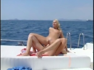 Sophie Evans ass fucked on a boat