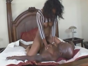 Hot Ebony couple having awesome sex