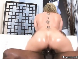 Sara Jay is too horny to stop fucking with hard cocked dude