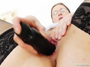 nurse masturbates in a kinky way