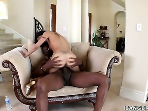 Lou Charmelle takes dudes cum loaded man meat in her love hole in interracial...