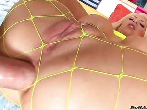 Candy Manson shows her love for fuck stick sucking to Mike Adriano before bum...