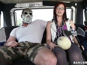 Aubrey James takes dudes sturdy rod deep down her throat