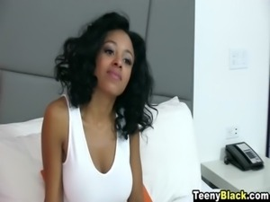 TeenyBlack - Busty Anya Ivy Has Cum Dripping All Over Her Firm Butt! free