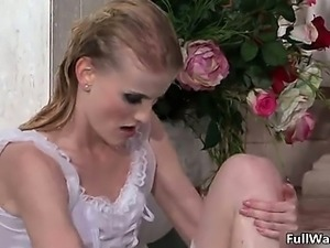 Sexy blonde bride gets horny taking part2