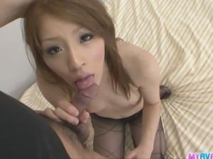 Nana Kinoshita got her tits and perky nipples sucked and lucked while her...