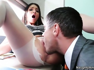Mick Blue makes Giselle Leon scream and shout with his sturdy schlong in her...