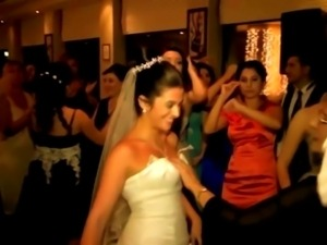 She groped boobs of bride