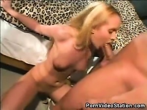 Cute Blonde Bianca Pureheart Loves the Cockl