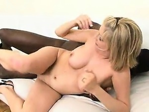 Busty blond Lya Pink get pounded by black cock