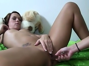 Two hot lesbians licking holes