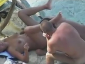 Nude Beach - Nice Bareback Threesome