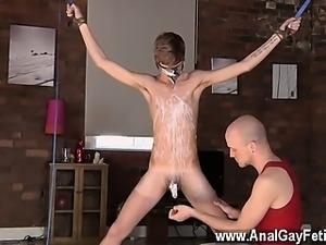 Hot twink scene Kieron Knight loves to fellate the warm cum