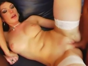Smoking hot Saffy and Sandra takes on two dicks