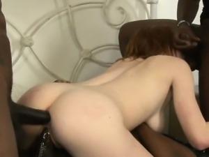 Busty slut Kierra Wilde double fucked and facialed